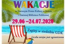 Wakacje z GDK w Sośnie w 2020 r.