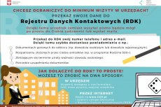 Przekaż swoje dane do Rejestru Danych Kontaktowych (RDK)
