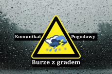 Ostrzeżenie meteorologiczne Nr 24/2020 - Burze z gradem